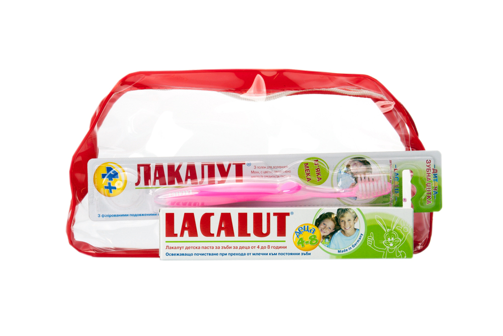 Комплект детска паста + четка от 4 до 8 год.