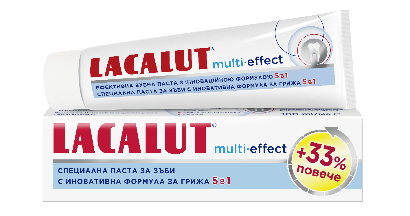 Лакалут паста за зъби с мулти-ефект + 33% промо